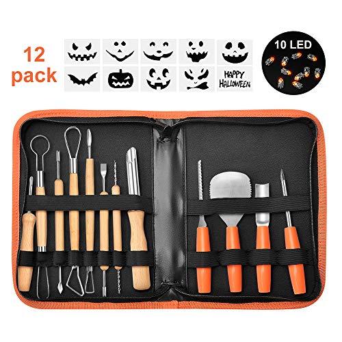 Carving Pumpkins Muster - Binken Halloween Kürbis-Schnitzwerkzeug, 12tlg Kürbis-Schnitzsets aus