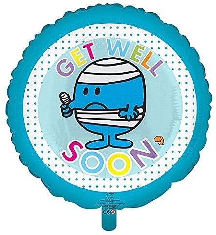 Mr Men Mr Bump - Get Well Soon Foil Helium Balloon 45cm 18 Round by Gemma