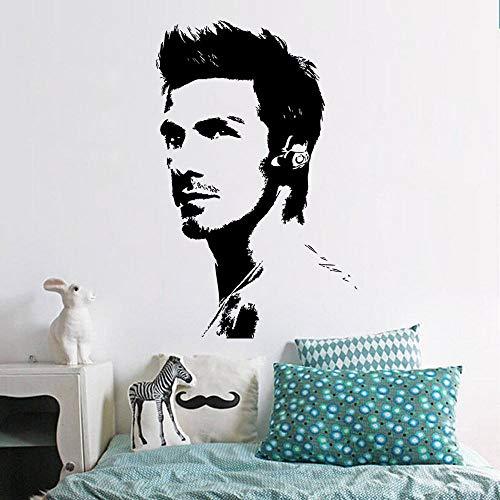 hllhpc Berühmte Fußballstar Neue Porträt David Beckham Abnehmbare Wandaufkleber Kunst Vinyl Aufkleber Dekoration Aufkleber 43 * 68 cm