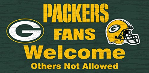 Fan Creations n0617 Green Bay Packers Fans Welcome Schild (Green Home Packers Decor Bay)
