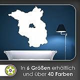 KIWISTAR Bundesland Brandenburg - Potsdam Spreewald Wandtattoo in 6 Größen - Wandaufkleber Wall Sticker