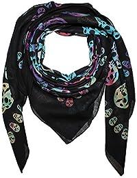Superfreak® Baumwolltuch mit Totenkopf Muster°Tuch°Schal°100x100 cm°100% Baumwolle°alle Farben!!!
