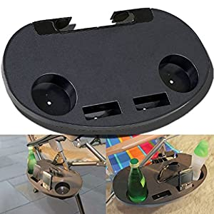 51tLtscL1lL. SS300  - CLIP ON PORTABLE CAMPING SIDE TABLE CUP HOLDER OUTDOOR