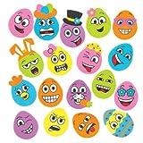 """Moosgummi-Aufkleber """"Lustiges Eiergesicht"""" für Kinder zum Dekorieren von Bastelprojekten und Frühlingskarten (120 Stück)"""