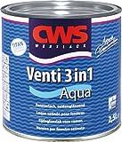 2,5 Liter cws Venti 3 in 1 Aqua Fensterlack seidenglänzend weiß