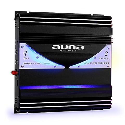 auna AMP-CH02 • Car HiFi Verstärker • 2-Kanal Auto-Endstufe •