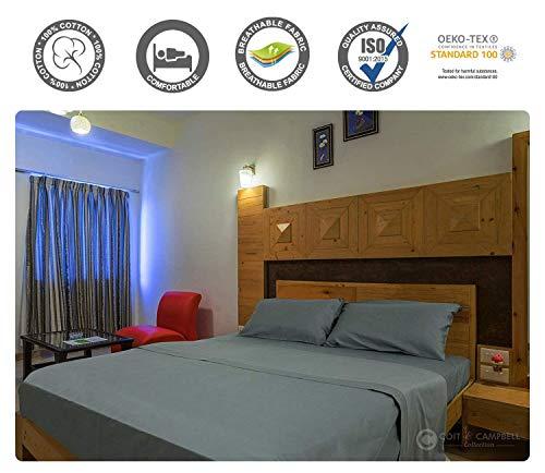 Coit & Campbell Hotel Collection Fadenzahl 800Massive 100% Baumwolle Satin Bettwäsche Set, Baumwolle, Dunkelgrau, Queen Size -