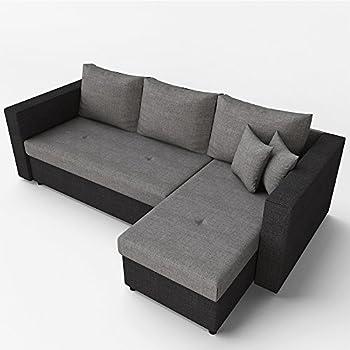 Sam® Ecksofa Vigo Combi 1 242 X 181 Cm Weiß Weiß Schwarz Rechts ... Wohnzimmer Couch Schwarz