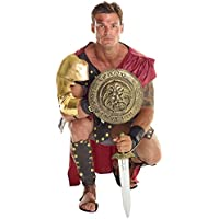 Costume marrone da soldato gladiatore romano Carnevale