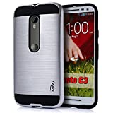 Tinxi 71460 Coquille de Protection Arrière  Pour Motorola Moto G 3. Generation  Argent