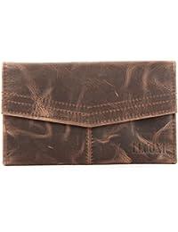 f9c2c9b954931c LECONI Geldbörse Portemonnaie Frauen Brieftasche Kartentaschen Querformat  Ledergeldbörse…