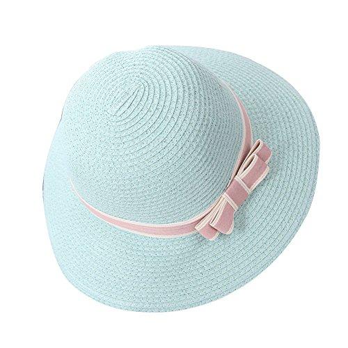 Femme / Fille Chapeau Paille Capeline Panamas Chapeau de Soleil Chapeau de Plage Été Élégant Vert clair