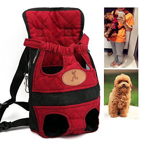 efanr vorne Pet Carrier Rucksack verstellbar Katze Hund Reisetasche freie Hände leicht und sicher tragbar Easy-Fit für Reisen Wandern Camping (Tote Large Gucci)