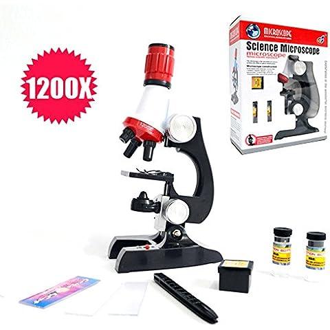 Natamo Bambini Biologica Set Microscopio ottico, 100x, 400x 1200x ingrandimento - Porta Specchio Ottica