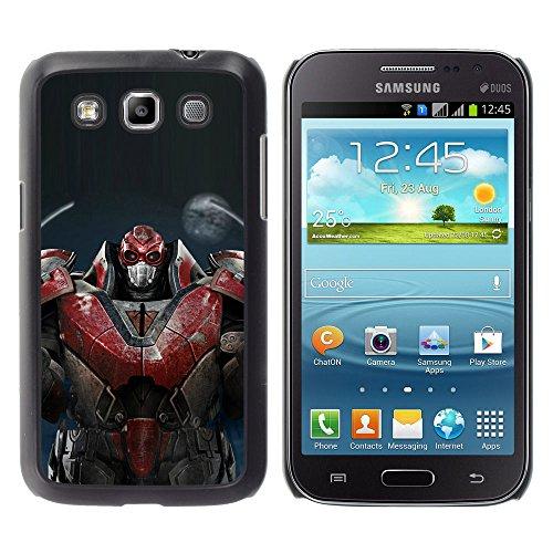 CASEX Cases / Samsung Galaxy Win I8550 I8552 Grand Quattro / Massive Red Robot # / Custodia Snello Nero Plastica caso copertura Shell armatura Case Cover Slim Armor Defender