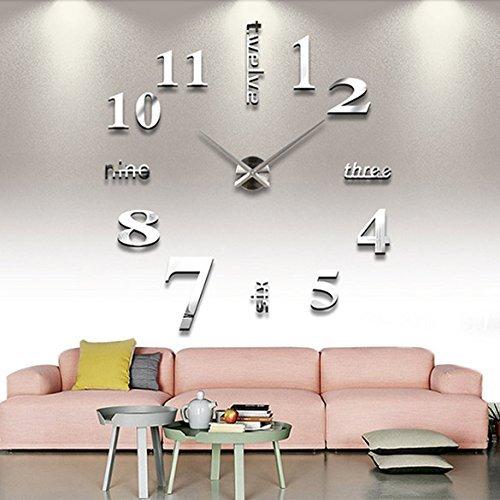 Vanserun modern wall diy orologi da parete guarda decor adesivi effetto specchio acrilico decalcomania domestica di vetro rimovibile decoration