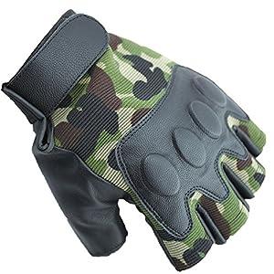 Il est un camouflage des mitaines pour hommes de haute qualit? et un camouflage militaire ?lasticit? gants demi doigt demi doigt de rachitisme tactiles, faisant stable! Il est recommand? ? la mode ? la mode de bicyclette de v?lo P?che hommes M taille sur