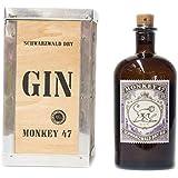 Monkey 47 Schwarzwald Dry Gin in Holzkiste 0,5l 47%