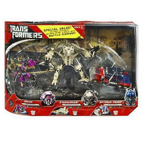 Transformers: Starscream Optimus Prime and Arcee Battle Damage Exclusive 3 Pack by Transformers