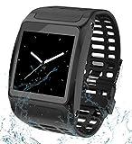 IDOOSMART Fitness socken mit Pulsmesser Wasserdicht IP67 Fitness Tracker Aktivitätstracker Pulsuhren Smartwatch Schrittzähler Uhr Vibrationsalarm Anruf SMS Whatsapp Beachten für iPhone Android