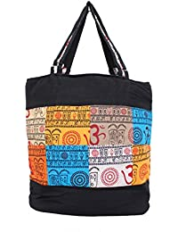 Serene Work Bag Handmade Traditional Spacious Shoulder Bag With Multi Color Patch Work Double Zipper Hand Bag...