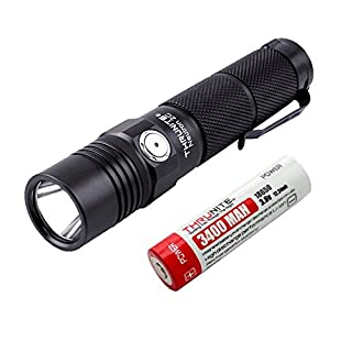 ThruNite® Neutron 2C V3 Handheld LED-Taschenlampe mit USB Interface Cree XP-L V6 LED Max 1100 Lumen mit Extension Tube Run auf 1 x 18650 Akku (Batterie Included) (Neutron 2C V3 KaltWeiß)