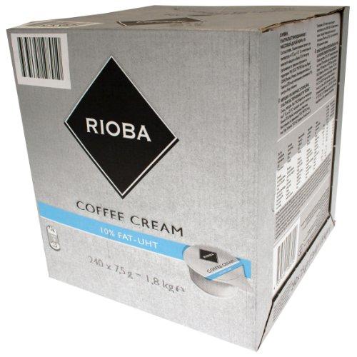 Rioba Coffee Cream, Kaffeesahne 10% Fett, ultrahocherhitzt, 240 Stück, je Stück 7.5 g, 1.8 kg