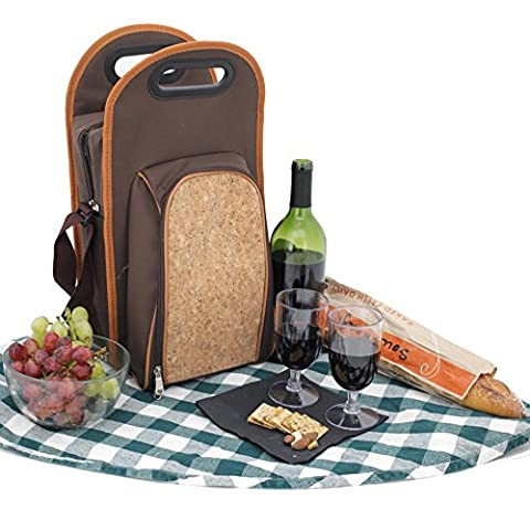 Bucasi PB200 Wine Travel Insulated Cooler Wine Carrier Tote Bag