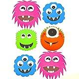 6 Monster Alien Halloween Masken aus Schaumstoff-Fun-Children's Face Masks von Spielzeug-Frosch Blau