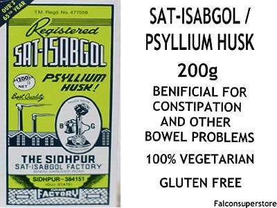 200g | SAT ISABGOL PSYLLIUM HUSK *FREE UK POST** SAT ISPAGHULA PSYLLIUM SEED PLANTAGO OVATA HUSK LAXATIVE CONSTIPATION HERBAL AYURVEDIC HEALTH by Sat-Isabgol