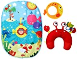 Tiny Love Tummy Time Play Mat Fun, Under the Sea
