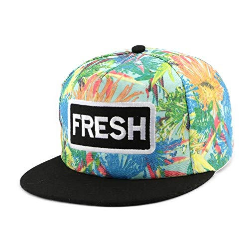 Hip Hop Honour Snapback Fresh Bleue et Orange - Mixte