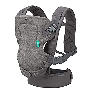 Infantino Flip Advanced 4-in-1 Convertible Baby Carrier, Light Grey Tula Front and rear carry options Ergonomic seat in the M position: guarantees the safe development of the baby's body. Allows baby to carry from 7 kg or 2 kg when used with our reducer, up to The large padded waist helps distribute the weight evenly, also includes a large front pocket 5