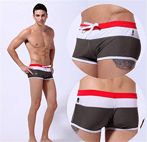 Zehui Men's Running douce de sport ample Short sous-vêtement Pantalon pour femme Vert