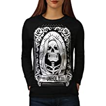 unheilig Rose Tod Schädel Damen S-2XL Langarm-T-Shirt | Wellcoda