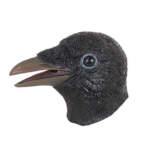 Bristol Novelty BM536 Krähe Maske, schwarz, Einheitsgröße