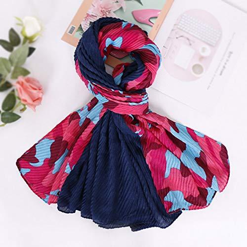 DDFSG Women Silk Scarf Geometric Floral Naturseide Schals Print Tücher Und Wraps Bandana