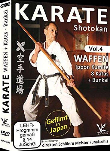 Shotokan Karate Vol.4 Waffen, IpponKumite, 8 Katas + Bunkai
