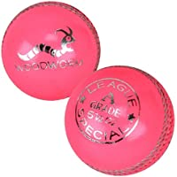 6 x Woodworm League Special 5 1/2oz Cricket Balls PINK