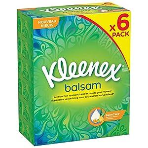 Kleenex Balsam P80 Taschentücher-Box, 80Tücher–6er-Pack (insgesamt 480Taschentücher)