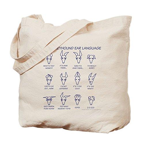 CafePress–Italienisches Windspiel Ohren Tasche–Leinwand Natur Tasche, Reinigungstuch Einkaufstasche Tote S khaki