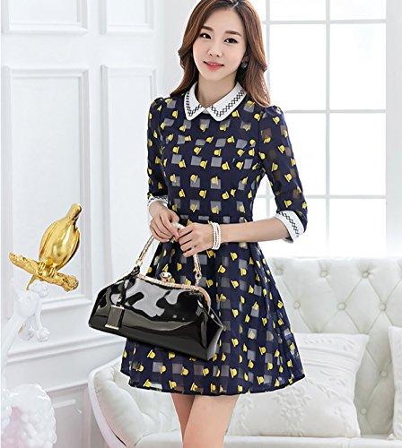 Tisdaini Neue weibliche Handtasche Mode Lackleder lackiert umklammert Schulter Messenger Tasche Freizeit Dame Brieftasche schwarz
