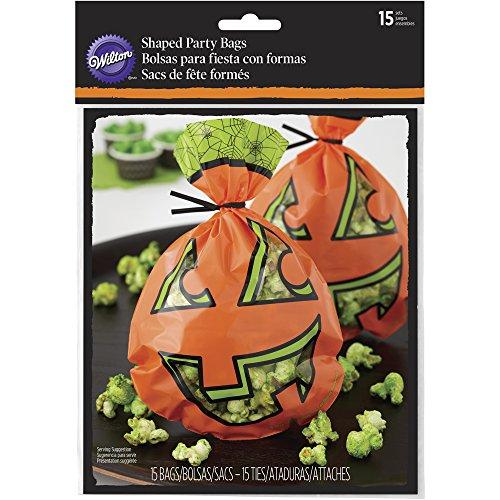 Wilton Jack O -Lantern Halloween Taschen, Kunststoff, orange, 15tlg