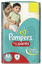 Pampers Pants Diapers Medium Size - 4 Count