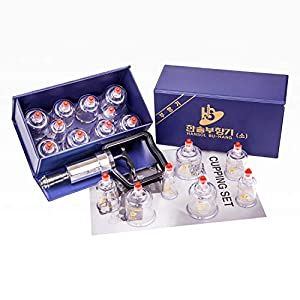 Hansol Professional Cupping Therapy Equipment Set With Pumping Handle 10 Cups English Manual Made In Korea By Hansol Medical Equipment