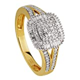 Diamond Line Damen - Ring 585er Gold 125 Diamanten ca. 0,40 ct., gelbgold