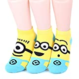 Minions Women's Ankle Socks 3 pairs(3 color) = 1 pack Made in Korea