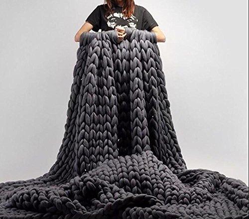 Manta de lana gruesa Manta tejida a mano