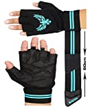 Xtrim Leather Gym Workout Gloves For Men- Black