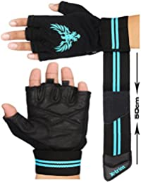 XTRIM X Macho Men's Leather Gym Workout Gloves